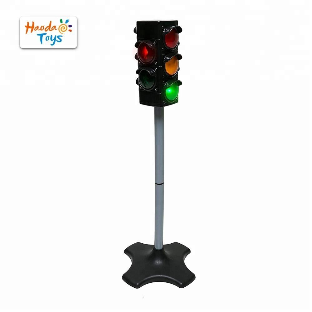 Crosswalk Traffic signal lamp 4 sided toy traffic light with sound and light