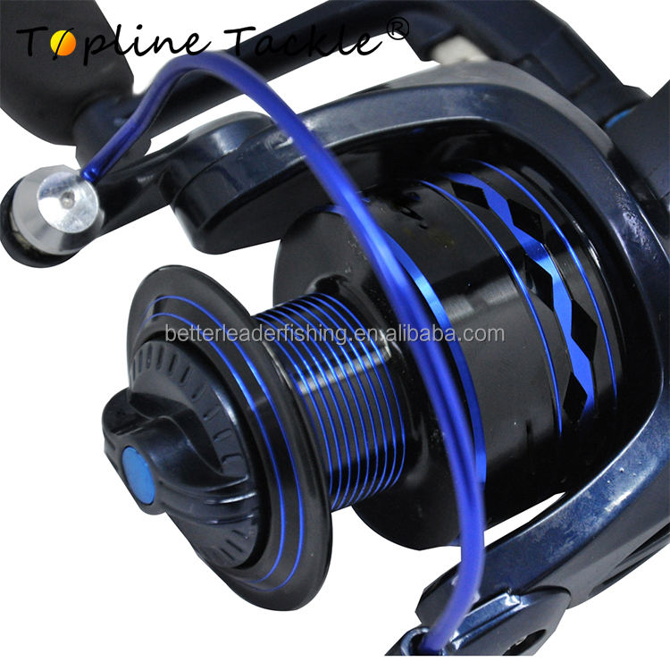 Wholesale deep sea stainless steel main shaft spinning fishing rod reel for salt water