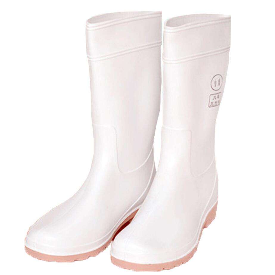 White professional food industry grade anti- acid oil-resistance corrosion resisting rain shoes FW-YX0005