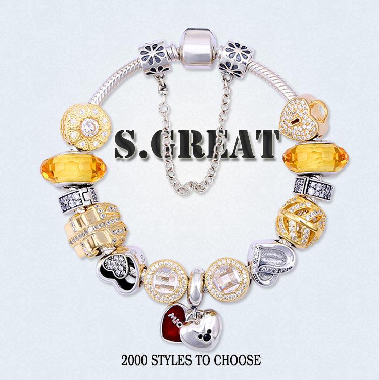 Dia das mães amor 925 pulseira de prata jóias fit estilo pandora corações atacado charme jóias fabricante