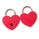 Colorful Cute Small Padlocks Mini Luggage Diary Heart Shape Key Lock