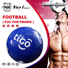 official size 5 custom TIGO logo Cheap Soccer Ball for advertising gift promotion