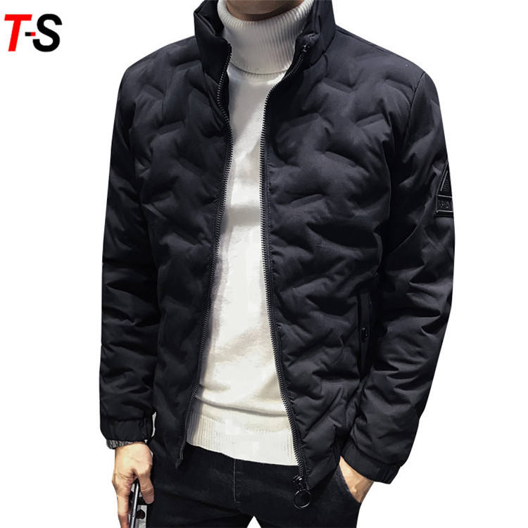 Winter men slim fit cotton coat fashion trend down cotton thicken cotton-padded jacket