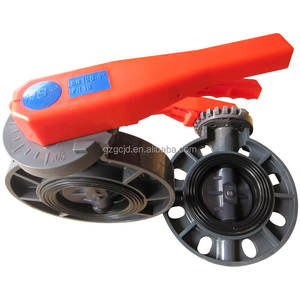 Guangzhou factory valve low-cost UPVC butterfly valve for civil and industrial systems