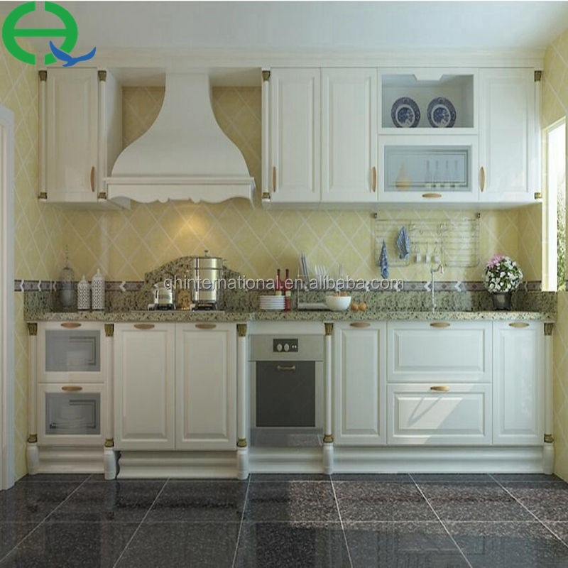white lacquer high gloss ready made Mdf modular modern kitchen cabinets direct from china