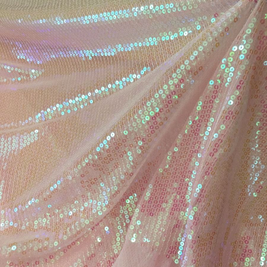 pink sequined lace tulle fabric shining all over sequence lace embroidery fabric designs for party dress or clothing