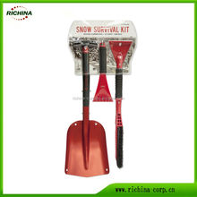 2017 hot sale, 3 in 1 design, automotive/car snow shovel tools set
