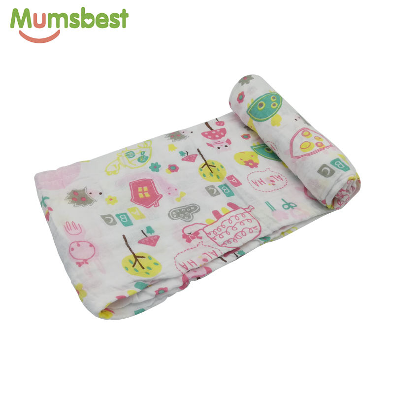 Free sample large size 100% cotton super soft baby muslin swaddle blanket