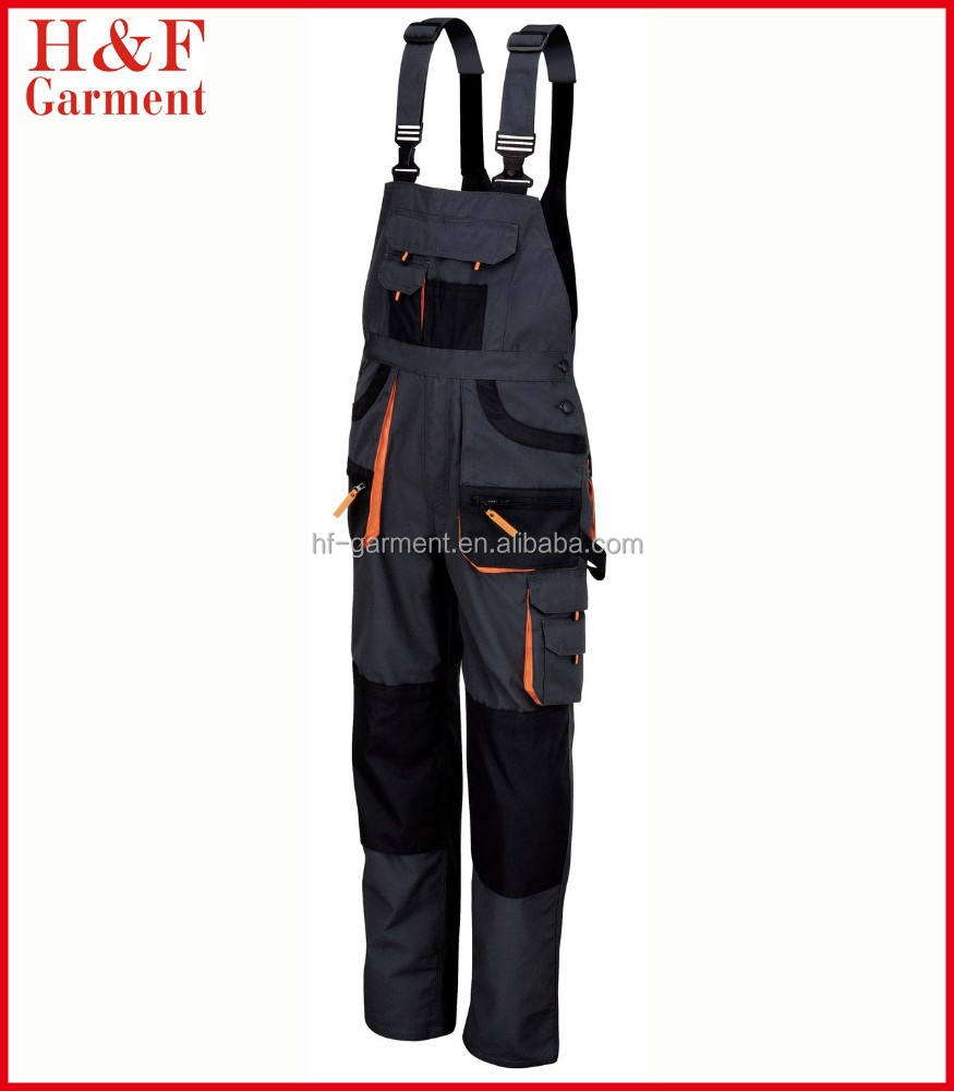 Work overall uniform made of heavy duty T/C canvas multi tool pockets