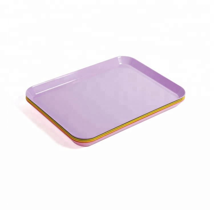 Candy yellow lovely printing wholesale cheap bulk plastic melamine euro coin tray