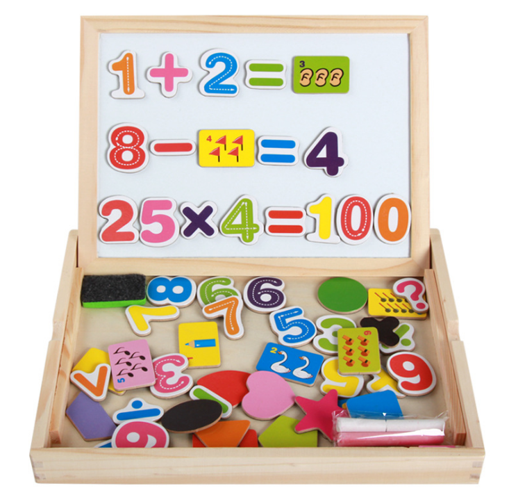 Kid's Wooden Magnetic Puzzles Learning Toys for Children Multifunctional Jigsaw Toys Early Education