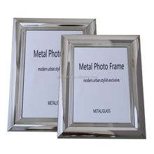 Broadside metal decorative glass silver plated photo frame