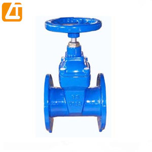Factory supply ductile/cast iron gear box operate DN50-600 soft seat gate valve