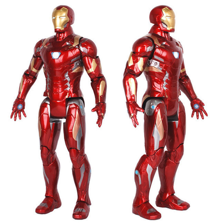 14inch cheap pvc flexible movable marvel superman toy ironman action figure