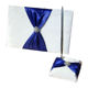 Satin Wedding Signature Guest Book with pen holder royal blue bow wedding decoration