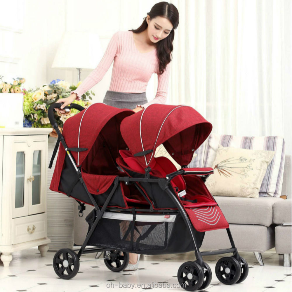 Pram Baby Strollers Stroller For Twins, two seated pushchairs, double strollers