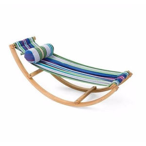 Outdoor automatic baby wooden swing chair baby bed hammock