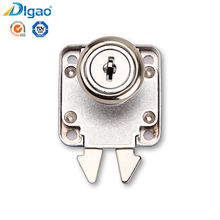 China wholesale 202 Zinc Alloy Metal Office Furniture Desk Crab Plier Double Hook Drawer Lock