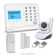 2020 New WIFI GSM PSTN Alarm System For Home Alarm With IP Camera