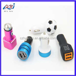 Custom Style ABS Material High Quality 2 Usb Charging Interface Dual Usb Car Charger