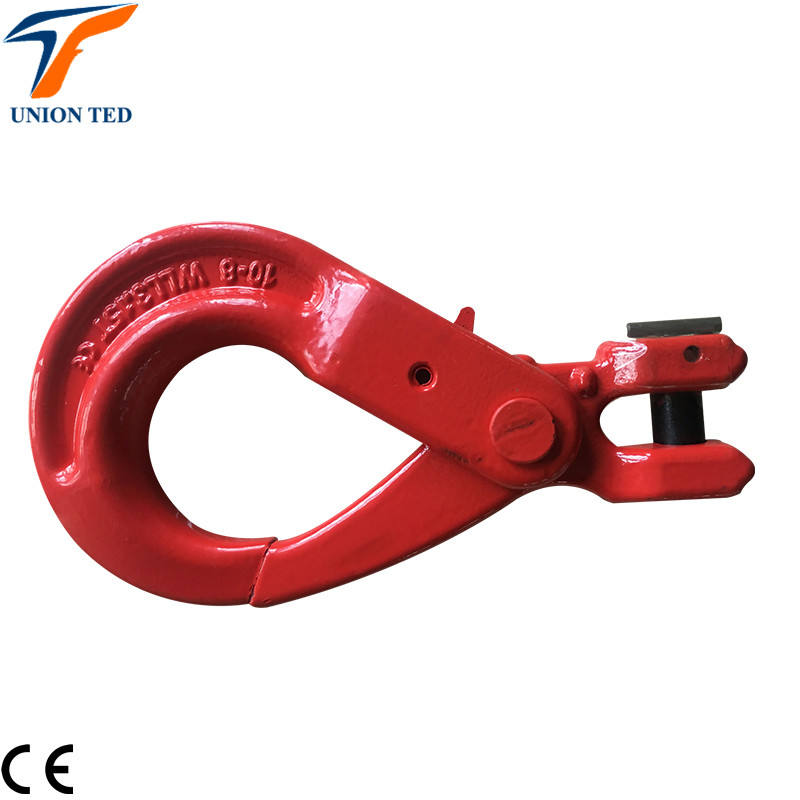 10mm g80 WLL3.15T red color CE standard chain alloy steel clevis self lock hook