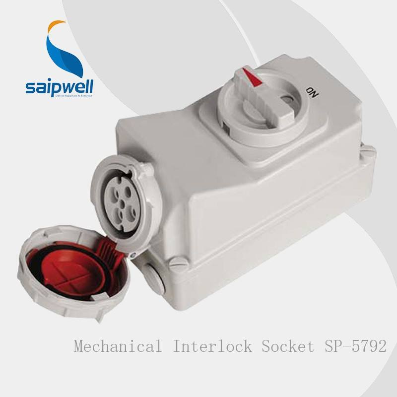 Fabrikant Saipwell IP67 4P 3H 63A Industriële <span class=keywords><strong>Socket</strong></span> Voor Gekoelde Containers