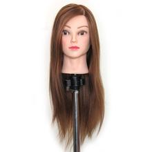Cosmetology 100% Real Human Hair Salon Practice Hairdresser Training Head Mannequin Dummy Doll Mannequin Head With Shoulders