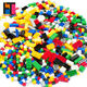 weagle multicolor and multi-standards building blocks kid's educational plastic 1000 pcs building blocks toy