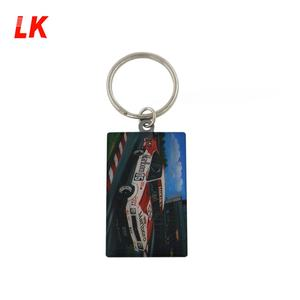 Wholesale cheap metal custom logo printed retractable keychain/ keyring