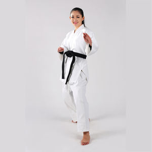 Most Competitive White Blue Wholesale Ijf Approved Cotton Material Judo Uniform