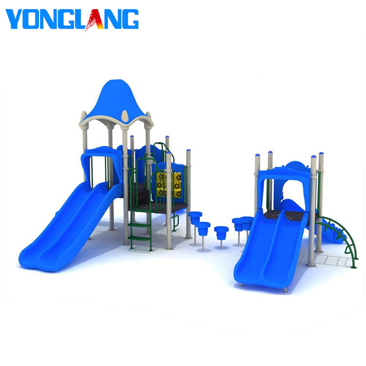YL51564 Hot Sale New Design Blue Theme Outdoor Play Equipment Kids Play Ground Items Exercise Play Park Games