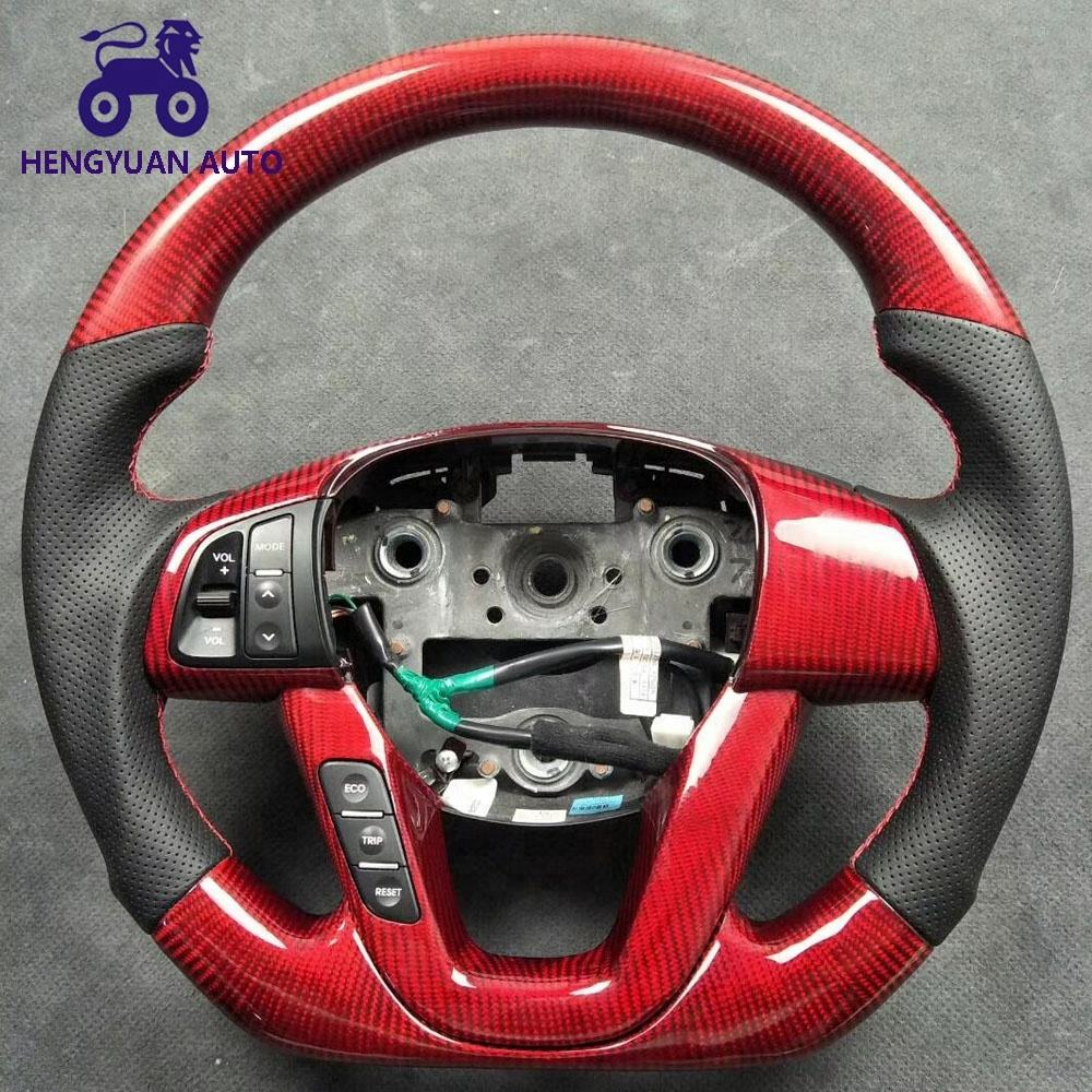 Performance Noble Red Carbon Fiber Steering Wheel For K5