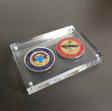 custom display coin acrylic frame