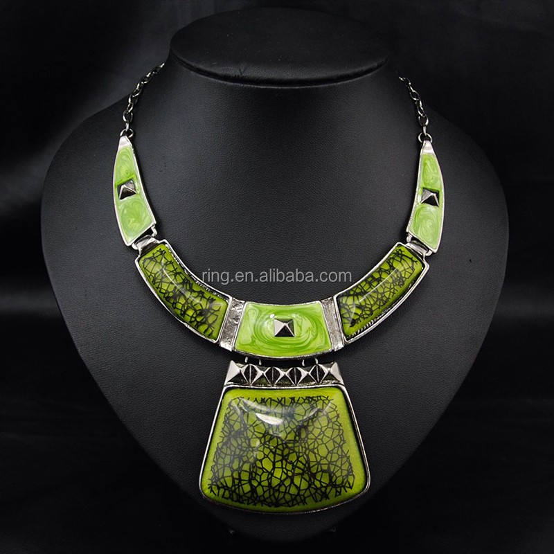Latest tribal jewellery Women Chunky Big fashion Necklace Wholesale