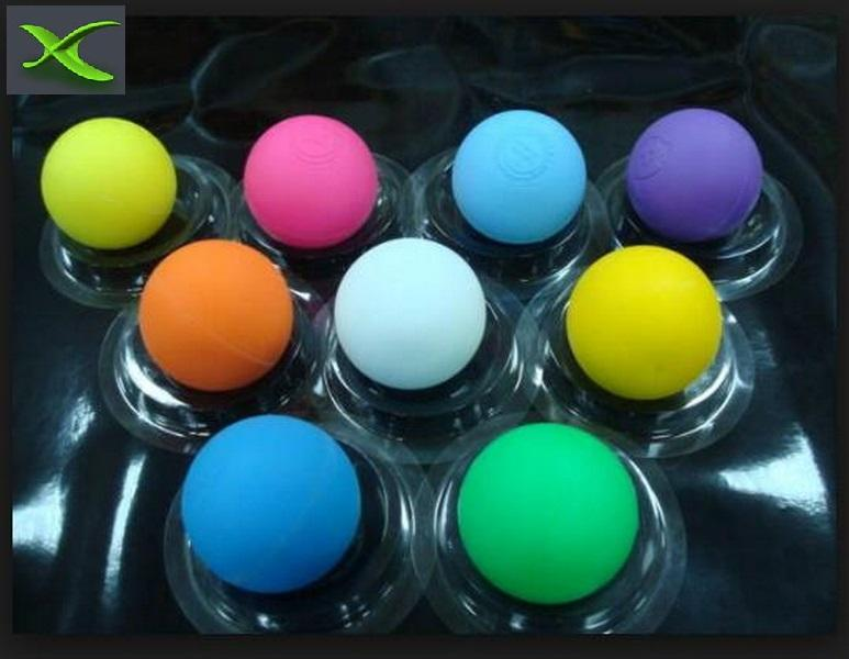 NOCSAE Standard inject molded no smell odorless rubber hard solid high bouncing round blank Lacrosse ball pet dog toy ball