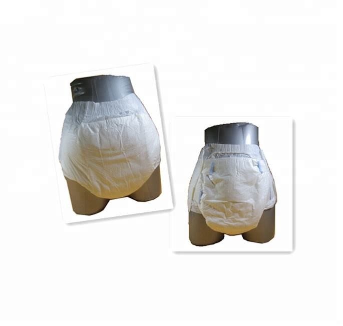 ABDL plain white printed adult baby diapers with blue core