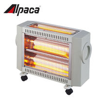 Two radiant tubes electric quartz heater with heating