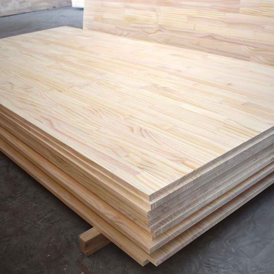 Chile pine / radiata pine edge glued board / finger joint board for sale