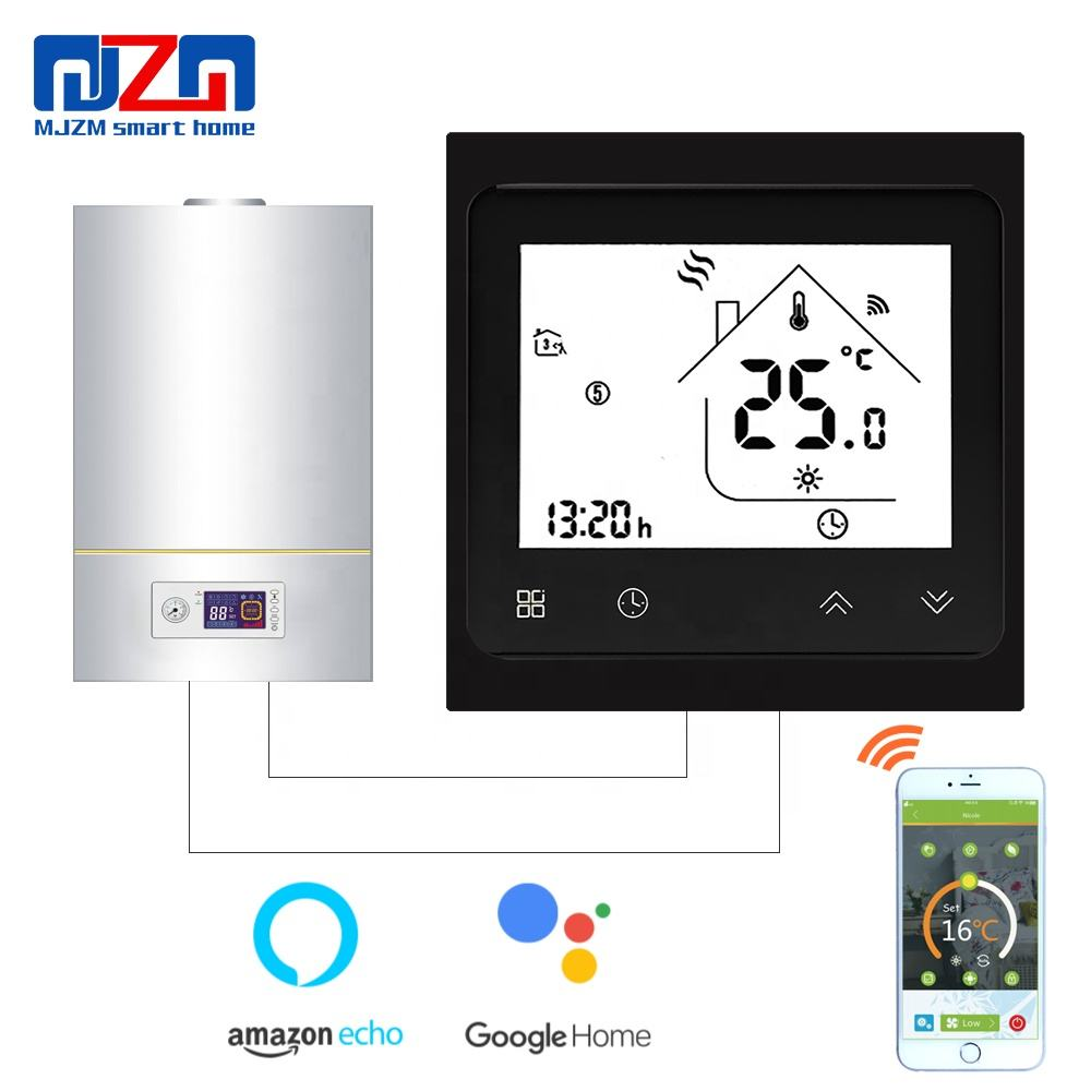 MJZM BGL-002-WiFi Gas Boiler Thermostat WiFi Temperature Controller Alexa Google Home Control Thermoregulator for Warm Room