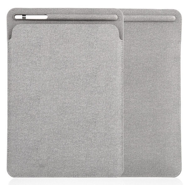 Slim soft Touch pen zak Lederen Case Voor iPad Pro 11