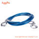 Car Tow Rope Steel Cable and Hooks For Car Boat Emergency ,4m length Pull Capacity 5 Tons Auto Car Tow Rope Snatch Strap Heavy