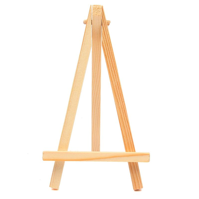 9*16cm Mini Wood Artist Tripod Painting Easel For Photo Painting Postcard Display Holder Frame Cute Desk Decor DIY Supply