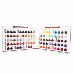 Beautiful hair dye color chart with 82 colors