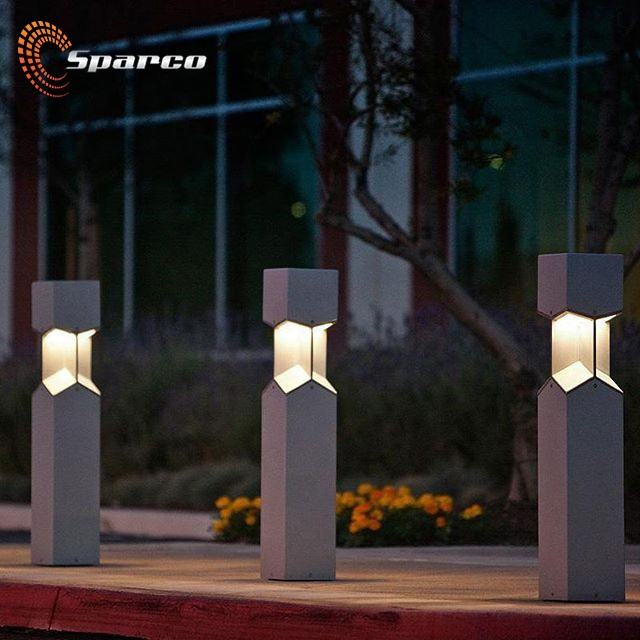Well design stainless steel decorative bollard light for garden
