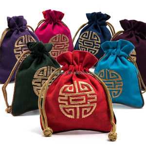 Chinese Embroideries Drawstring Bags Lucky Bags Tea Bags