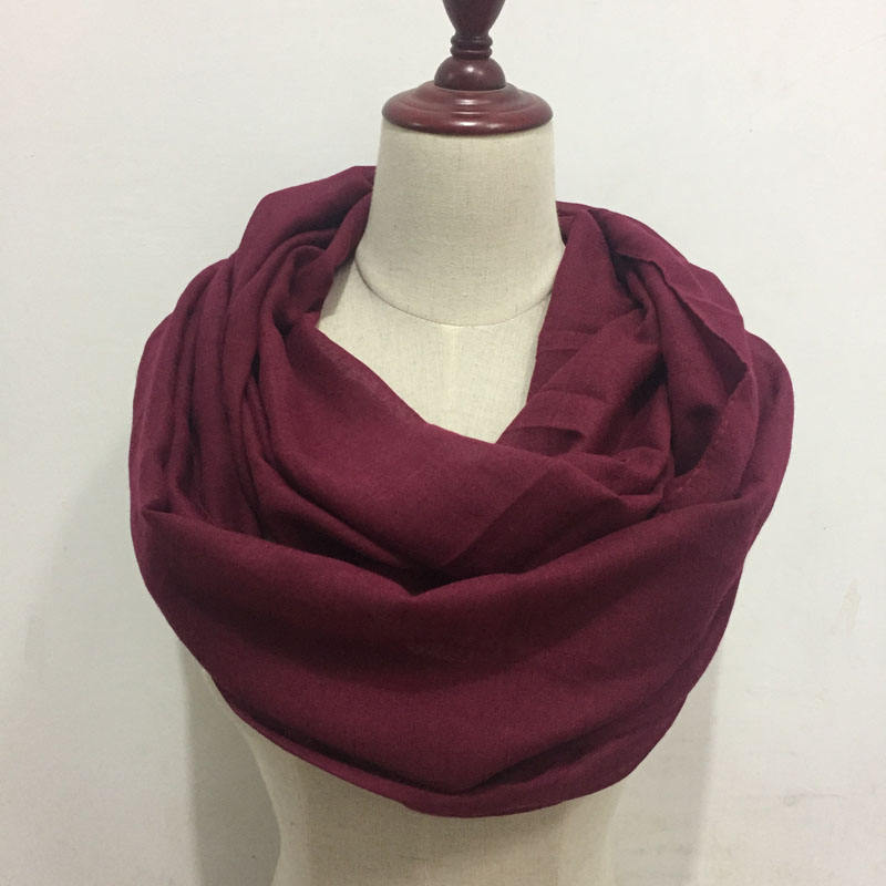 Very soft Amazon quality plain TR cotton loop scarf solid color