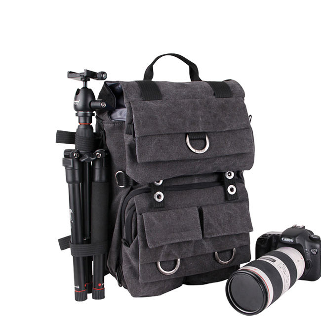 Professional Dslr Canvas backpack bag tripod camera bag backpack