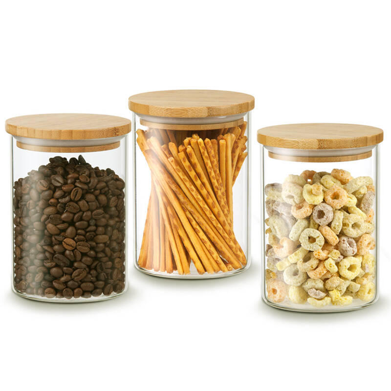 Factory direct supply recycled glass jars heat-resisting high borosilicate glass jar