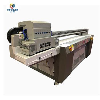 2018 new multifunction model TC- 2513 W+CMYK*2+V 4 pcs xaar 1201 print head uv hybrid led flatbed printer for sale