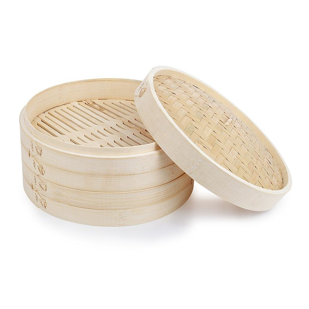 OEM wood cooking mini bamboo steamer for bulk wholesale